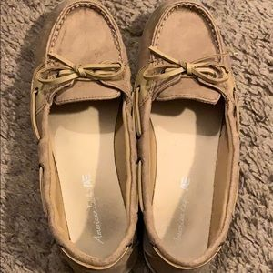 Sperry style shoes.
